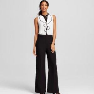 XOXO ruffle front color block jumpsuit, NWT